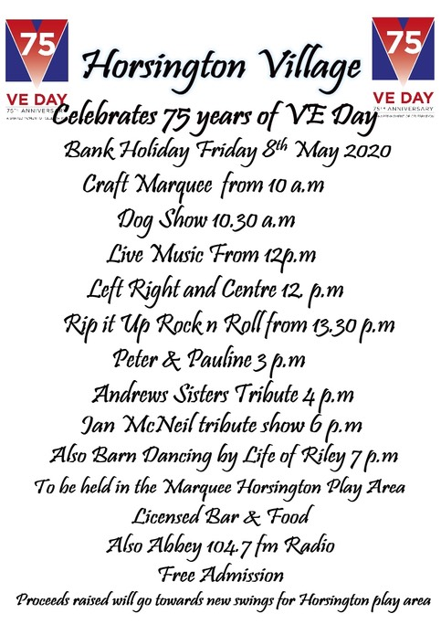 75 Years VE Day Leaflet