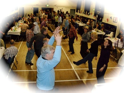 Herefordshire ceilidh band, Life of Riley, playing and calling for a party near Herefordshire